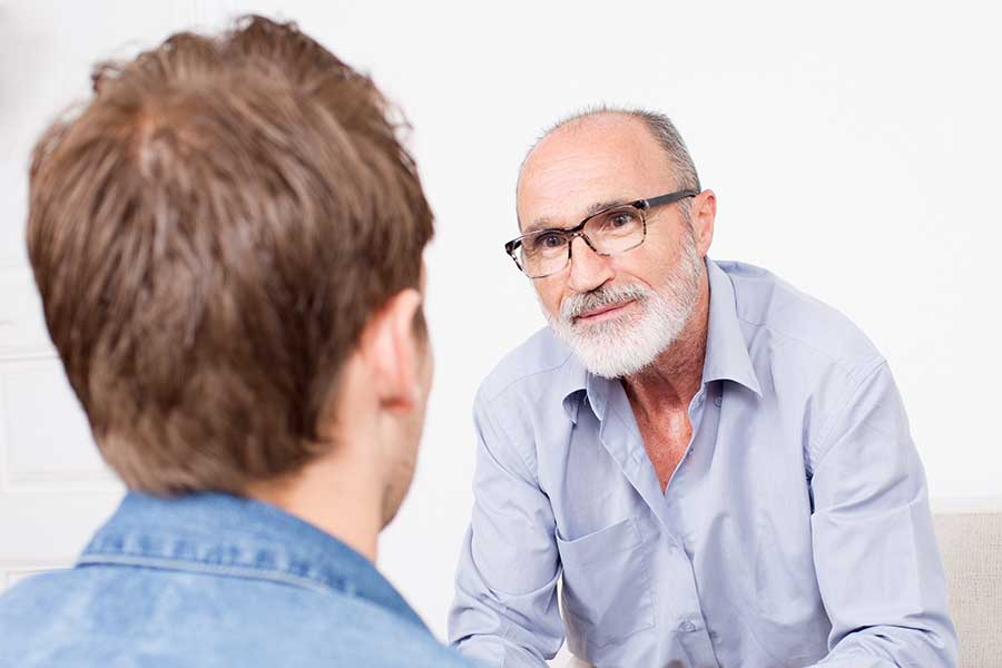 Talking to an alcoholic father about how to get help.