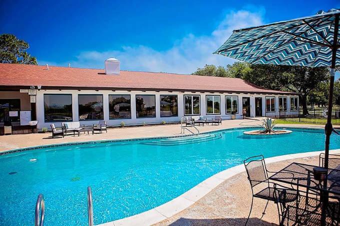 Healing Springs Ranch poolside