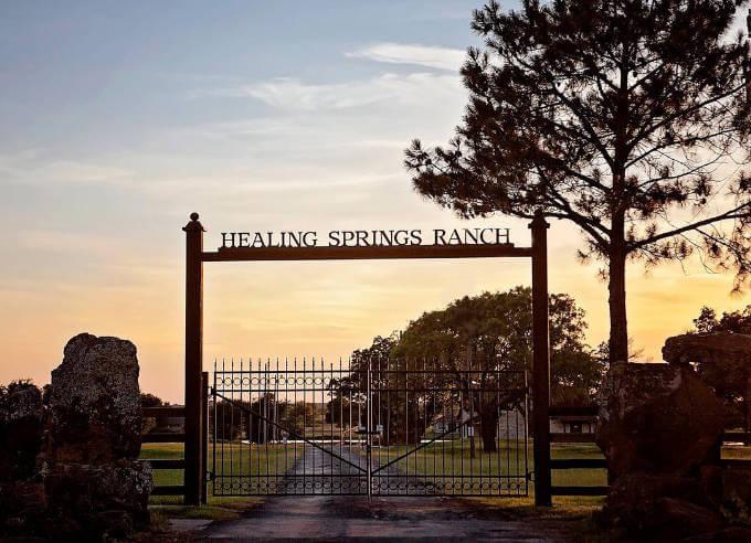 Healing Springs Ranch gate